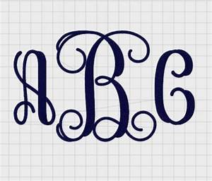 instant download large 3 letter script monogram by With letter it embroidery software free trial