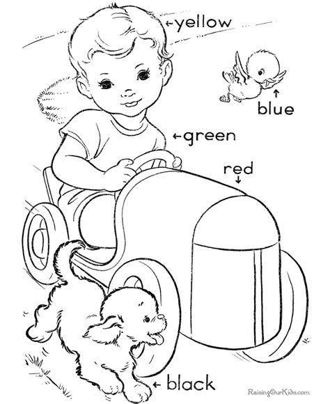 learning colors coloring pages az coloring pages