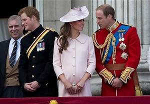 Britain's Prince Andrew (L), Prince Harry (2nd L), Prince ...