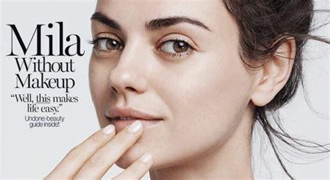 Mila Kunis ¿sin Maquillaje En Una Portada Informaliaes