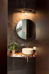 plan vasque bois brut dans la salle de toilette osez le With salle de bain design avec vasque de toilette