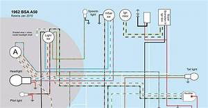 Old Bike Hack  Bsa A50  A65 Wiring Diagram