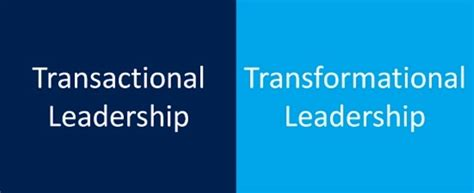 difference  transformational  transactional