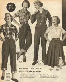 vintage womens dungarees    sears catalog
