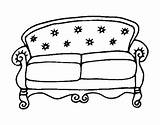 Couch Coloring Chesterfield Colorear Coloringcrew sketch template