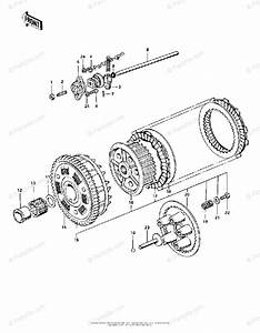 Kawasaki Motorcycle 1975 Oem Parts Diagram For Clutch