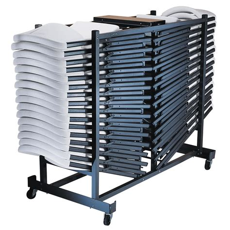 lifetime 6525 storage rack folding chair cart