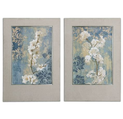 Uttermost Blossoms Framed Art  Set Of 2 Uttermost41511