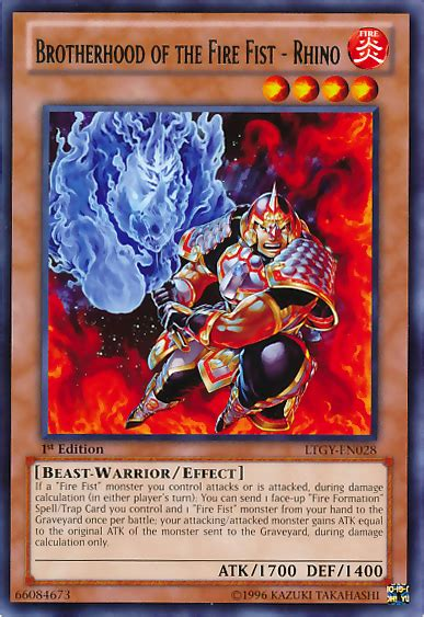 brotherhood of the deck brotherhood of the rhino yu gi oh