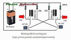 Learn How To Make Blinking Led Lights Circuit  Blink Led