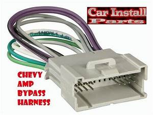 Chevy Radio W Amp Bypass Wire Harness Stereo 2000