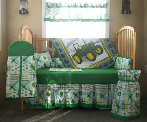 deere toddler bedroom decor 10 deere green patchwork plaid baby quilt set