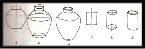 Misalnya, seorang desainer ingin membuat guci, tentu ia akan membuat rancangan dalam bentuk gambar sebelum dibuat bentuk guci yang sesungguhnya. Gambar 3 Dimensi Guci - Gontoh