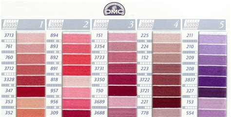 dmc color chart pin by williams on dmc floss color chart and