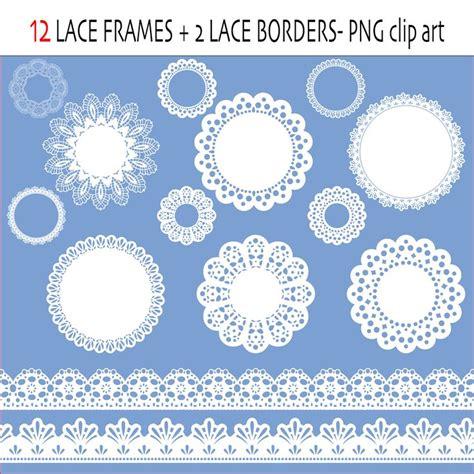 lace clip art labels  frames lace ribbon lace borders