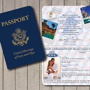realistic usa passport invitation With wedding invitations online in usa