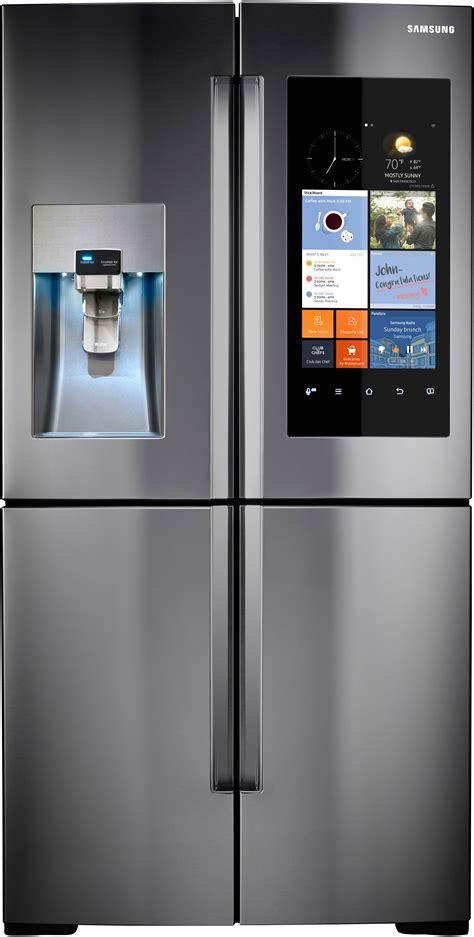samsung rfksr    door refrigerator  family hub wifi lcd touchscreen built