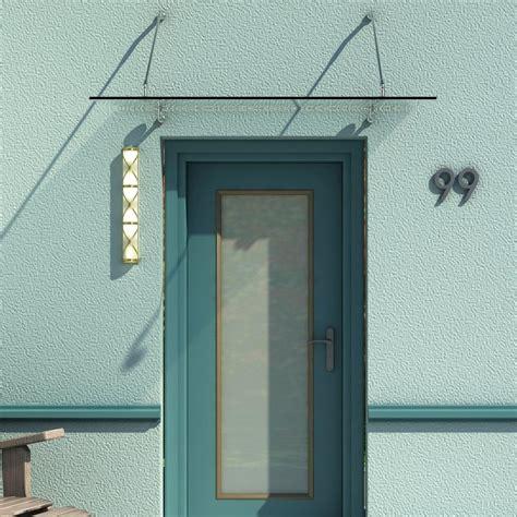 marquise design entree auvent auvent marquise de porte d entr 233 e verre tremp 233 transparent design 150 x 90 cm 53 rev 234 tement