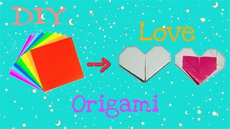 diy origami love simple youtube