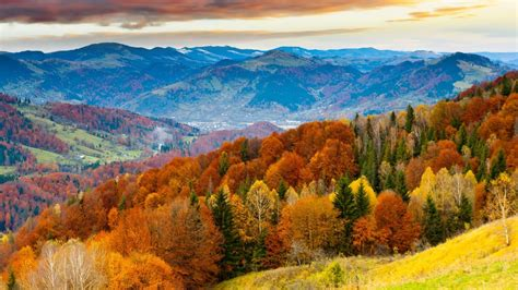 Beautiful Autumn Landscapes Wallpapers by Colorful Forest On Mountain Autumn Landscape Beautiful