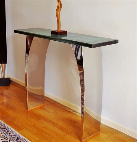 metal dining modern console tables luxury contemporary furniture