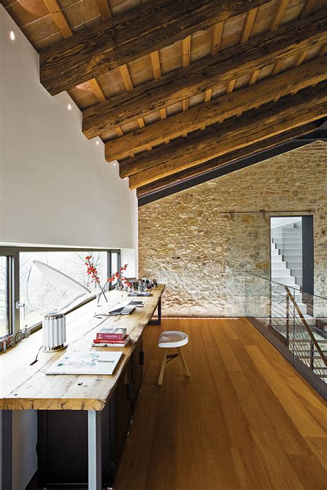 rustic modern office renovated farmhouse in the countryside spells luxury