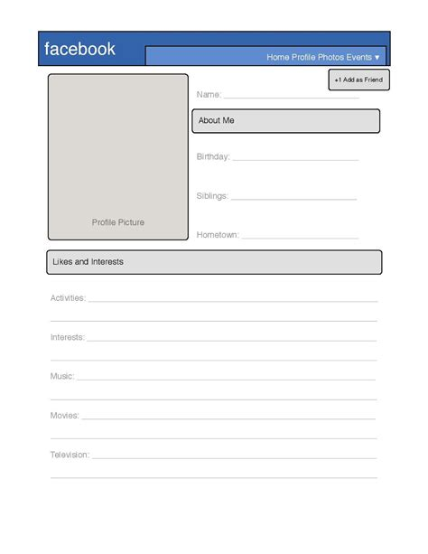 Profile Template Simple Profile Template Great For Introduction