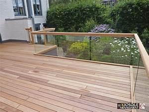 Garde Corps Terrasse Bois : terrasse en bois avec garde corps en verre marcq en baroeul ~ Dailycaller-alerts.com Idées de Décoration
