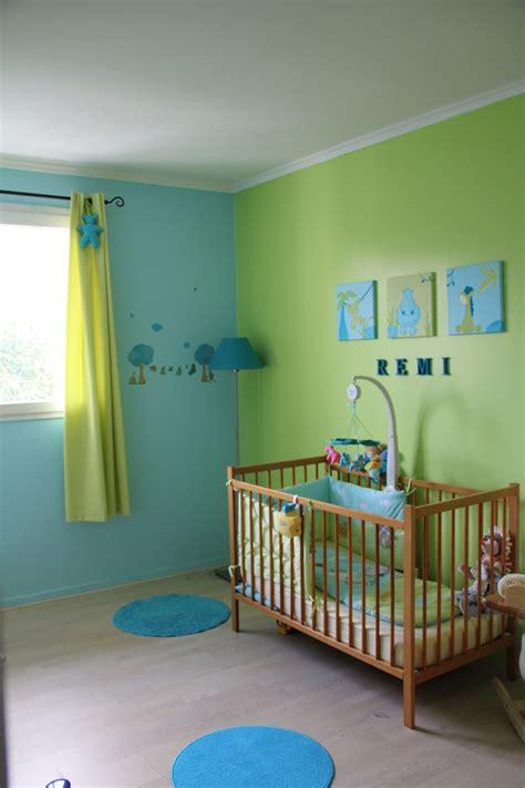 chambre garcon jungle tableau triptyque quot jungle quot turquoise et vert 90 x 30 cm