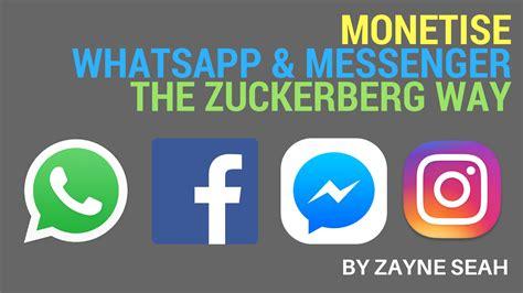 How Mark Zuckerberg Intends To Monetize Whatsapp And Messenger