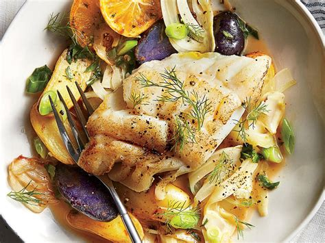 cod with fennel and fingerling potatoes recipe cooking light