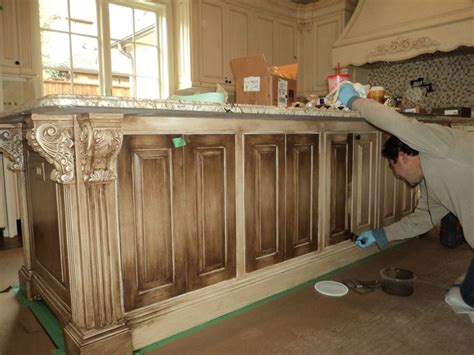 how to antique cabinets off white glazed kitchen cabinets applying antique glaze