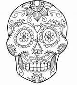 Skull Coloring Pages Bones Crossbones Rose Adults Pirate Printable Skulls Roses Getcolorings Sugar Getdrawings Colorings sketch template