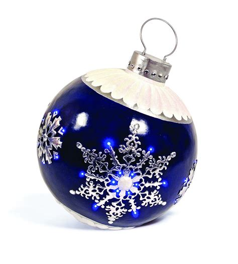 "2' 4"" Blue LED Lit Snowflake Ornament | Commercial"