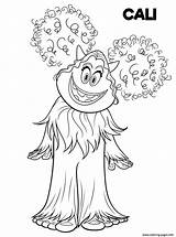 Coloring Pages Smallfoot Printable Yeti Cali Cute Drawing Yet Print Smiling Hand Adults Fun sketch template