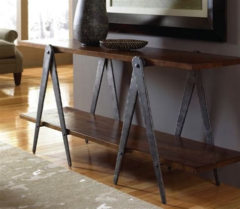 Sofa Table Legs by Forged Steel Sawhorse Table Legs Sofa Table Base