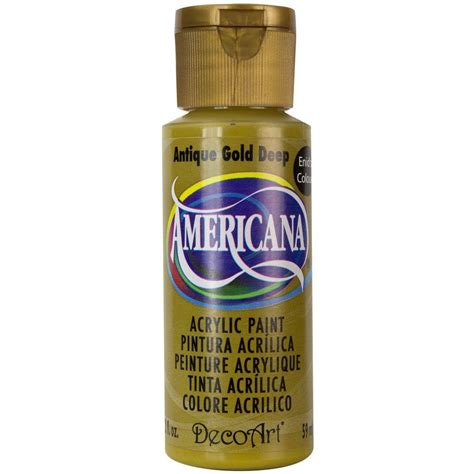 decoart americana 2 oz antique gold acrylic paint dao9 3