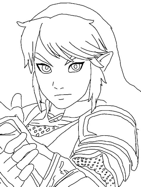 link coloring pages legend of link coloring page