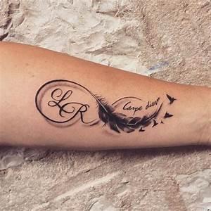 Tatouage Plume Indienne Signification : 130 id es de tatouages infini homme femme signification tattoo infini ~ Melissatoandfro.com Idées de Décoration