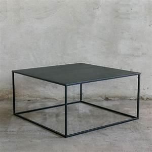 Couchtisch Schwarz Metall : simplex ii couchtisch aus metall 90x90 cm minimalistisch notoria ~ Eleganceandgraceweddings.com Haus und Dekorationen