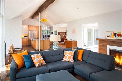 mid century modern lighting living room midcentury with atlanta blue cable railing