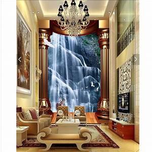 Home Decor wall paper 3d art mural waterfall background ...