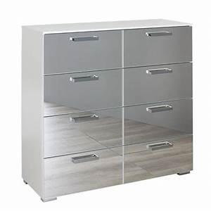 Commode 8 Tiroirs : commode 8 tiroirs denia blanc ~ Teatrodelosmanantiales.com Idées de Décoration