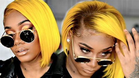 Black And Yellow Hair Color by How To Slay Yellow Hair On Skin Woc Yellow Bob