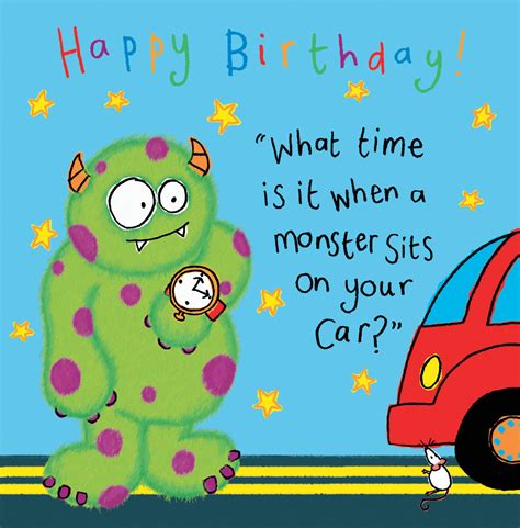 monster funny joke birthday card  kids tw
