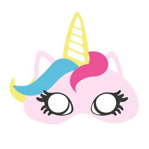 unicorn mask illustrations royalty  vector graphics