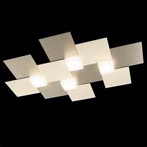 Luminaire Design Led : plafonnier creo led champagne grossmann 74 770 075 ~ Teatrodelosmanantiales.com Idées de Décoration