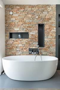 Parement Salle De Bain : salle de bain parement pierres ~ Dailycaller-alerts.com Idées de Décoration
