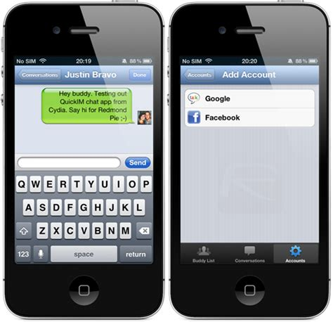 chat on iphone quickim for iphone integrates chat and