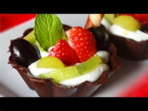 chocolate fruit cups recipe